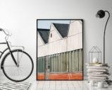 Przemysł Ulicy Zurichu w Store Poster - plakat do salonu